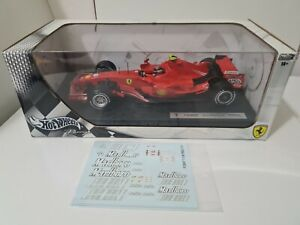 1:18 Hot Wheels F1 Ferrari F2007 Kimi Raikkonen + New Tobacco/Barcode decals
