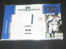 NICK JOHNSON YANKEE LEGEND GAME USED CERTIFIED AUTHENTIC JERSEY CARD RARE #/250