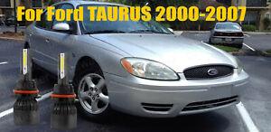 LED For TAURUS 2000-2007 Headlight Kit 9007 HB5 6000K White Bulbs High-Low Beam