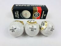 Vintage Dunlop 65 Golf 3 Ball Pack 1-62 Size Personalised