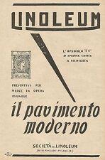 Y0354 LINOLEUM il miglior pavimento - Pubblicità d'epoca - Advertising
