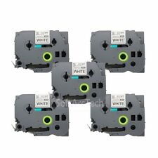 5pk Black on White Label Tape Compatible for Brother P-Touch TZ TZe 261 36mm