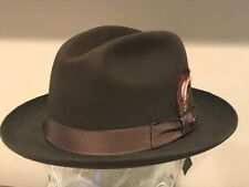 $220 Bailey Hollywood Fur Felt Rabbit Hat Fedora Madison Brown Medium 7 1/8  57