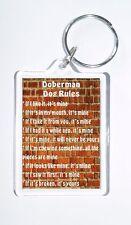 Doberman Rules - 'It's Mine!' Novelty Dog Owners Keyring - Ideal Present/Gift