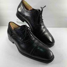 Magnanni Mens Cieza Semi Brogue Oxford Shoes Black Lace Up 18399 Leather 8.5 M