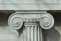 Detail of an Ionic Column Photo Art Print Poster 18x12 inch