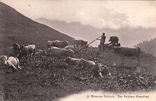 Carte postale ancienne SUISSE SCHWEIZ Brienzer Rothorn Des Aelplers Abendlied ti