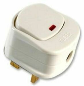 NEW! 13 AMP MAINS PLUG WITH SWITCH