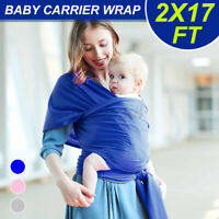 Soft Newborn 100% Cotton Safe Stretchy Baby Wrap Carrier Infant Sling Blanket