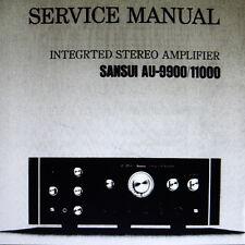 Sansui AU-9900 AU-1100 int stéréo amp service manual inc schem sanhq anglais