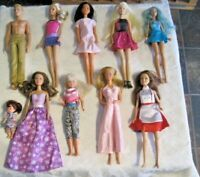 Barbie Doll Lot ~ 10 Dressed Barbie & Friends Dolls Lot (2)