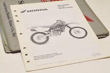2004 XR650R XR650 R GENUINE Honda Factory SETUP INSTRUCTIONS PDI MANUAL S0205