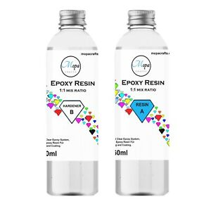 EPOXY RESIN KIT 540g CRYSTAL CLEAR CASTING ART JEWELLERY MAKING WOOD CRAFT