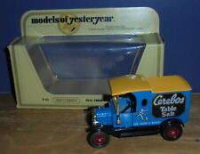 Matchbox Yesteryear Y12 Model T Ford Van Cerebos Yellow Roof with Gold Issue 1