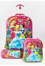 3 Piece Mädchen 5D Handgepäck Kabine Trolley Koffer Reisetasche Kinder