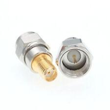 Puretek cobre tipo F macho a SMA hembra adaptador convertidor