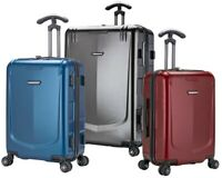 Palencia III 3-Piece Anti-Theft Metallic Finish Expandable Spinner Luggage Set