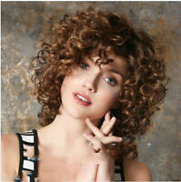Fashion wig New Top Women's Short Mix Blonde Curly Wave Natural Hair wig