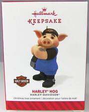HARLEY HOG Harley Davidson Motorcycles 2014 Hallmark Christmas Ornament NIB Pig