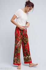 ANTHROPOLOGIE DOTING ING DEER FLANNEL PJ BOTTOMS/ SLEEP PANTS XL  LILKA RED  NWT