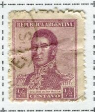 ARGENTINA;   1917 early San Martin issue fine used 1/2c. value