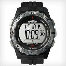 TIMEX Mens EXPEDITION VIBRATION ALARM Chrono Digital Watch (T498519J) NEW