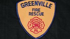 VINTAGE GREENVILLE FIRE RESCUE PATCH HISTORY FELT