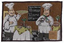 Pizza Chef Set 4 Placemats 13x19 Restaurant Dinner Coffee Wine Fabric Tapestry