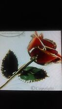 Gold Plated 24k red rose