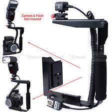 Camera Holder Flash Bracket +E-TTL Cord Cable for Canon Speedlite 600EX 580EX II
