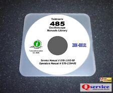Tektronix Tek 485 Oscilloscope Service Operaqtors Manual 17x11 Diagrams Cd