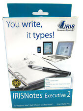 IRIS 457489 IRISNotes Executive 2 Smart Digital Pen Scanner for Mac and PC New
