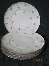SET OF 6 ROYAL TETTAU DRESDEN FLOWERS GOLD TRIM DINNER PLATES GERMANY EXCELLENT