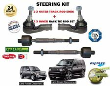 FOR LAND ROVER DISCOVERY 2004->NEW 2X OUTER + 2x INNER TIE TRACK RACK ROD END