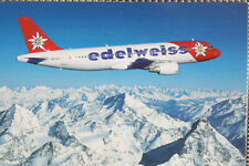 AK Airliner Postcard EDELWEISS A320 airline issue