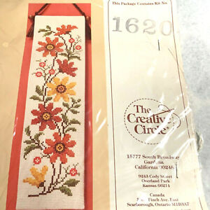 80s Christmas Joy Bellpull Creative Circle Counted Cross Stitch Kit 2162 By Denise May-Levenick Christmas Bellpull Kit 4 x 14 NIP