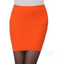 Women Lady Fashion Skinny Short Mini Pencil Skirt Strech Bodycon Asymmetric Hem