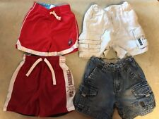 Lot of 4 - 24mos Blue Jean Khaki Cargo & Athletic Shorts Children's Place Carter