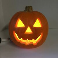 Halloween Trendmasters 1993 JOL Orange Pumpkin Blow Mold Light Decor