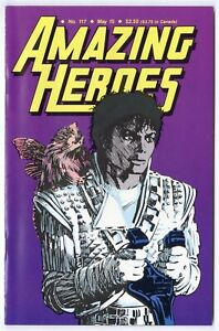 Amazing Heroes #117 NM- 9.2 white pages  Michael Jackson Captain EO Cover  1987