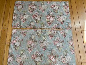 Vintage Ralph Lauren Charlotte STANDARD PAIR Pillow Cases USA CLEAN Soft EUC