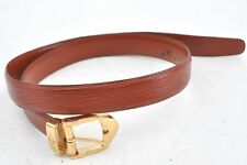 Authentic Louis Vuitton Epi Leather Belt Brown LV 67524