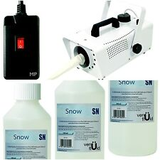 Snow Storm II Artificial Snow Effects Machine & Remote & 3 x Concentrated Fluid
