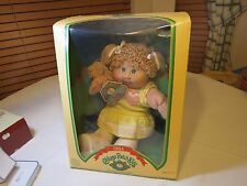 1984 original Cabbage Path Kids doll in package birth certificate blonde green
