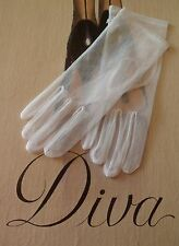 SHORT WHITE  DOTTY GLOVES VTG STYLE   item 1