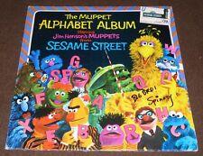 CAROLL SPINNEY SIGNED THE MUPPET ALPHABET ALBUM BIG BIRD SESAME STREET w/ PROOF!