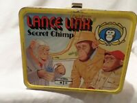 "VINTAGE-RARE ""LANCE LINK-SECRET CHIMP"" METAL LUNCH BOX 1971 BY THERMOS"