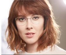 Fashion Frameless Plain Glasses Ultralight Eyewear Women No Degree Eyeglasses