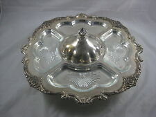 FB Rogers Silver Co.1883 Serving Tray Silverplate Ornate Platter With Gass Trays