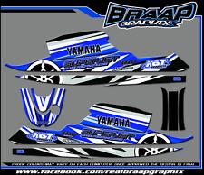Yamaha SuperJet Graphics Decal Kit Blue/White (RN)